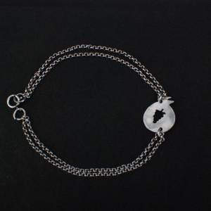 double strande pomegrape bracelet