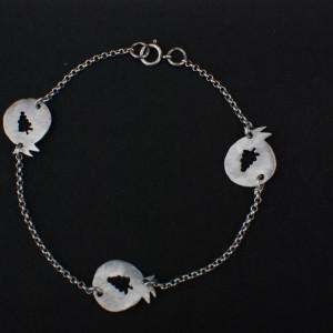 three pomegrape bracelet